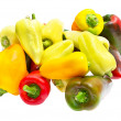 Colored peppers isolated on white — Stock Photo