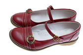 Dětské boty na bílém pozadí — Stock fotografie