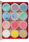 Gouache färg isolerad på vit — Stockfoto