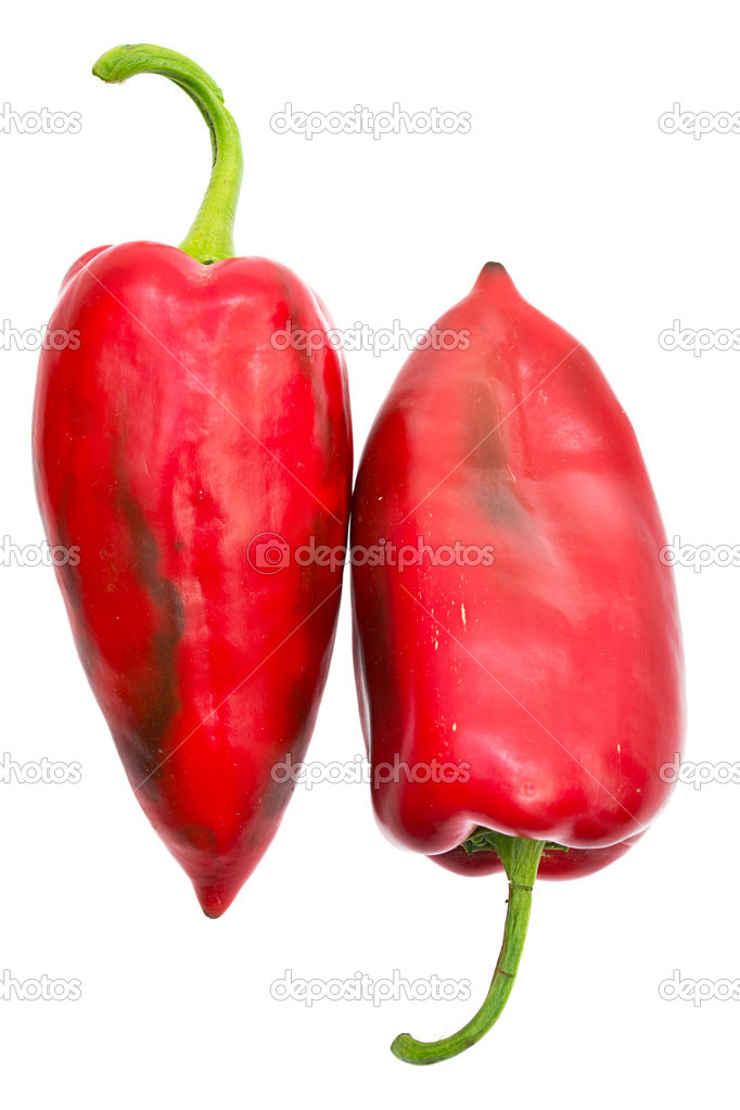 Red pepper isolated on white  Stock Photo #6741517