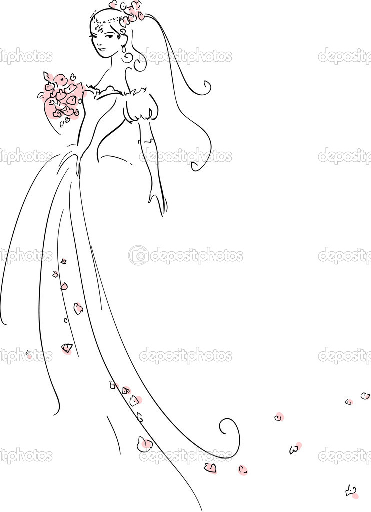 Vector illustration of Beautiful Bride — Stock Vector #5851177