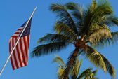 American flag in Hawaii — Stock Photo