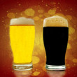 Gold and black beer — Foto de Stock