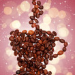 Coffee cup made of coffee beans — Stock Photo
