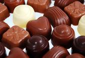 Chocolate pralines — Stock Photo