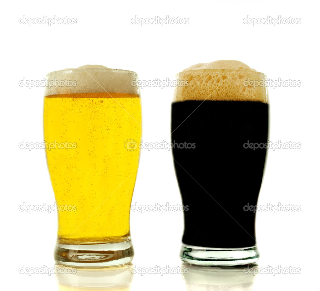 Gold and black beer  Stock Photo #5784683