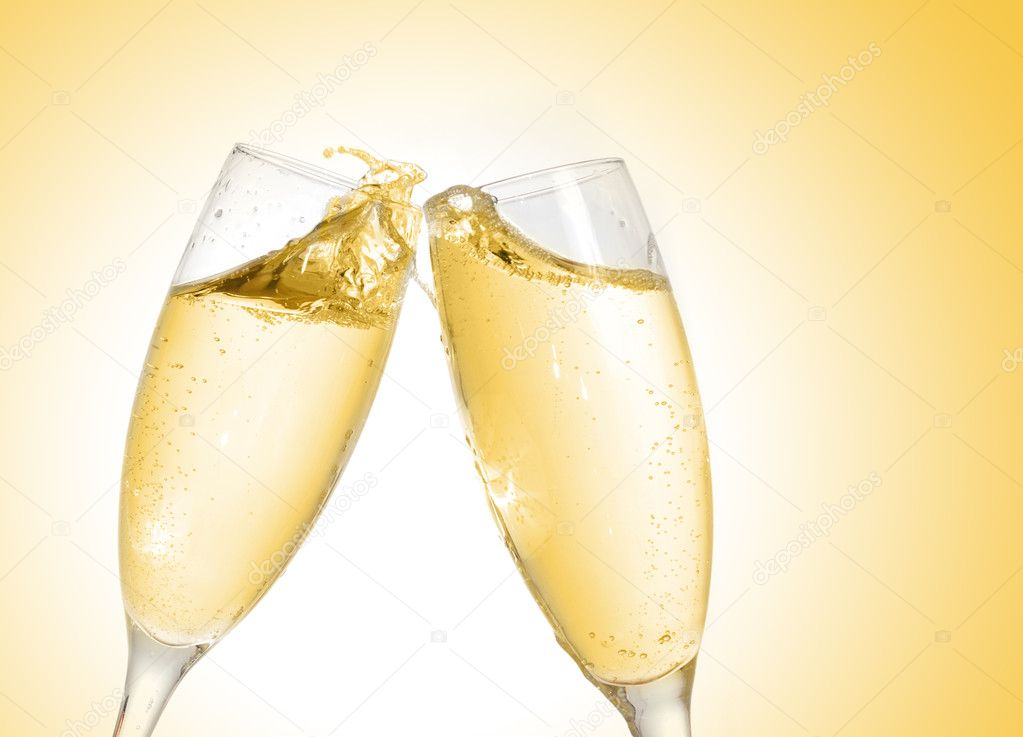Champagne glass, close up — Stock Photo #5785114