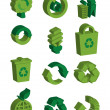 Stock Vector: 3d Recycle signs set