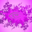 Abstract floral background — Imagen vectorial