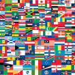 Complete set of Flags of the world — Vettoriali Stock