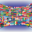 Royalty-Free Stock Vektorfiler: Complete set of Flags of the world
