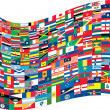 Complete set of Flags of the world — Imagens vectoriais em stock