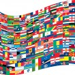 Wektor stockowy : Complete set of Flags of world