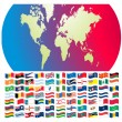 All flags of world — Vector de stock #5803629