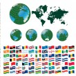 All flags of world — Vector de stock #5803630