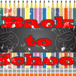 Vector de stock : Back to school design