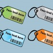 Bar code labels — Image vectorielle