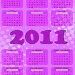 2011 calendar — Stock Vector #5803683