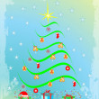 Christmas tree — Stockvectorbeeld