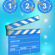 Stock Vector: Clapper board