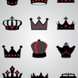 Royalty-Free Stock Vector Image: Crowns
