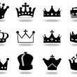 Vector de stock : Crowns