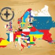 Stockvektor : Outline maps of the countries in European continent
