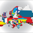 Cтоковый вектор: Outline maps of the countries in European continent