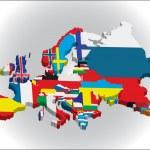 контурные карты стран в Европейском континенте — Cтоковый вектор