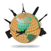 Världen landmärken — Stockvektor