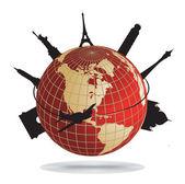 Monumentos do mundo — Vetor de Stock
