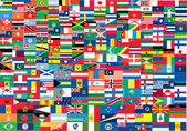 世界の国旗の完全なセット — ストックベクタ