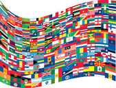 Complete set of Flags of the world — Stock Vector