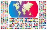 Tutte le bandiere del mondo — Vettoriale Stock
