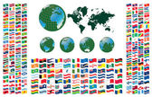 All flags of the world — Vetorial Stock