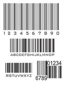 Bar code — Vector de stock