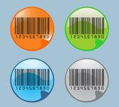 Bar code labels — Stock Vector