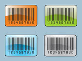 Bar code labels — Stock Vector