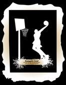 バスケット ボール選手 — ストックベクタ