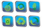 Recycle button set — Stockvektor