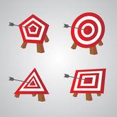 Bulls eye, vector illustration — Stock Vector