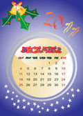 Kalender 2011 december — Stockvector
