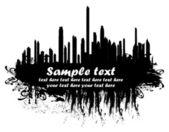 городские силуэты — Cтоковый вектор