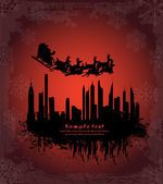 Urban holiday background — Stockvector