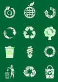 Recycle icon set — Vector de stock