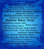 Bonne année en trente langues — Vecteur