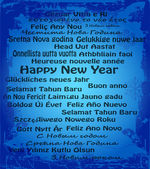 Happy New Year in thirty language — Stockvektor