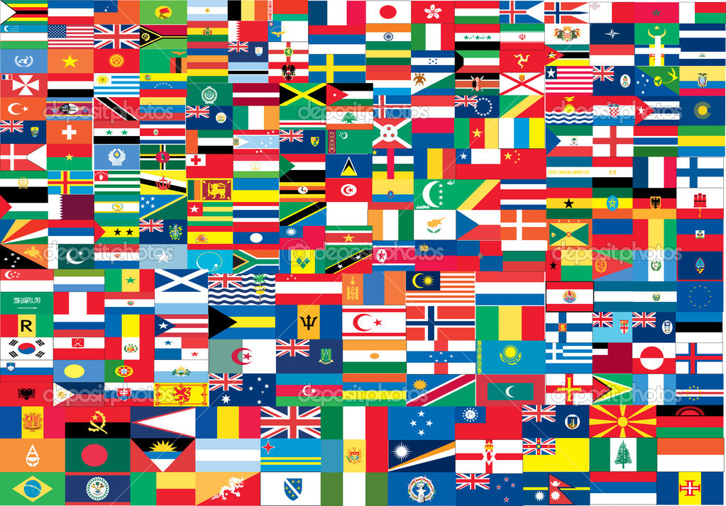 Complete set of Flags of the world, vector illustration  — Stock Vector #5803620
