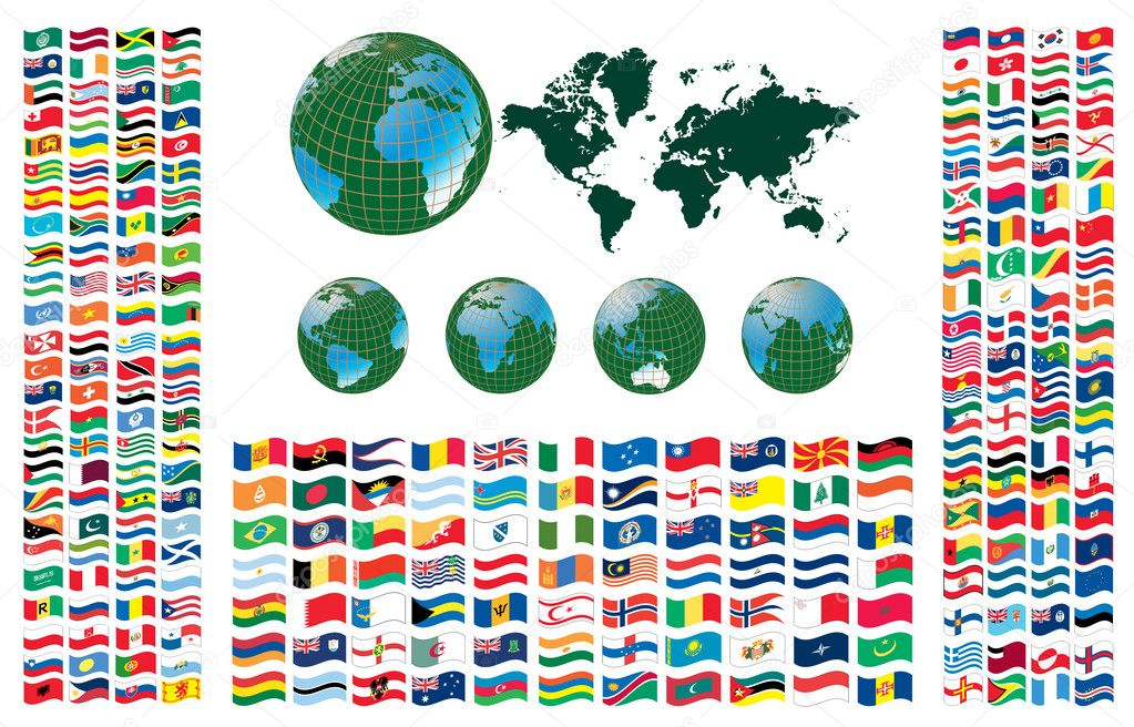All flags of the world, vector illustration — Stock Vector #5803630