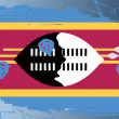Grunge flag series-Swaziland — Stock Photo